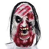 Cara Del Fantasma Máscara Festival Masquerade Horror Grimace Auriculares De Látex Cuerpo Entero Máscara Del Demonio Zombi Para Disfraces Bola/Bola Enmascarada/Decoración De Halloween