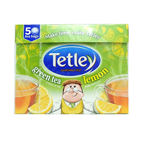 Tetley Green And Lemon 50 Teabags 100G