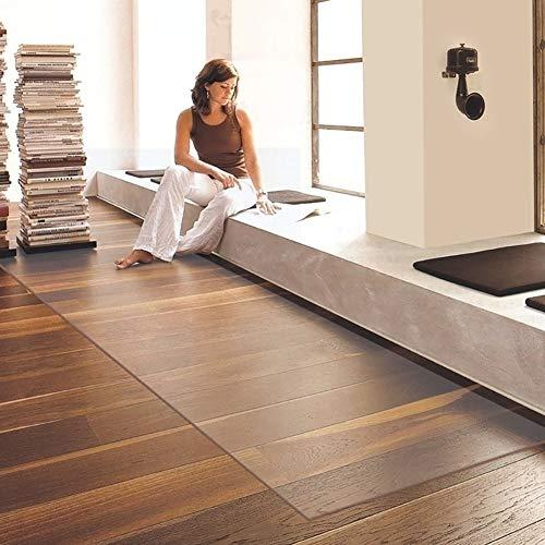 GOPG rutschfest Bodenschutzmatte, Transparentes PVC Hartböden Schutzkissen Wohnzimmer Sofa Bürostuhl Kissen Holzbodenmatte-60x90Cm(24x35Zoll)-transparent1.5Mm