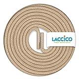 LACCICO Finest Waxed Laces - Durchmesser 2,5 mm, robuste gewachste premium Schnürsenkel; Farbe:Beige, Länge:60 cm