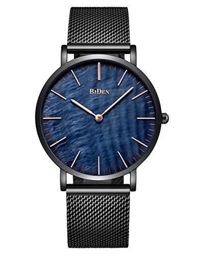 Herren, Damen Edelstahl Uhr, Luxus Elegant Schale Ultra Dünne Mesh Analoge Quarzuhr Wasserdicht Geschäfts Klassisch Männer Armbanduhr Gents mit Milanese Band