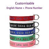 CHANG Hundehalsband, Individuelles Anti-Lost-Hundehalsband, Anpassbare Elemente: Englischer Name + Telefonnummer, 5 Farben, 4 GrößEn VerfüGbar,Blue,XL