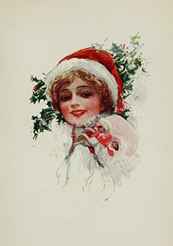 The Poster Corp Harrison Fisher - American Girls in Miniature 1912 Miss Santa Claus Kunstdruck (45,72 x 60,96 cm) -