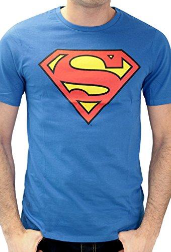 Superman Superman Logo Classique-T-shirt  Uomo    Blu (Cobalt) XL