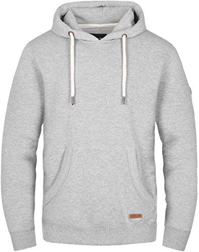 Solid Hoodie Sweatshirt (SOLID Toni Herren Sweatshirt Pullover Sweater Kapuzenpullover Hoodie Männer Kapuze Baumwolle Einfarbig, Farbe: (Grau) light grey melange (8242), Größe: S)