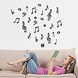 Mamum Note de musique amovible Art Vinyl Mural Home Room Decor Stickers muraux