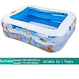 Badewanne Kleine aufblasbare Badewanne / Pool Paddling Pool Sea Ball Pool für Kinder / Baby mit Fuß Pump Geeignet für 1 Personen (110 * 88 * 33cm) Aufblasbare Badewanne