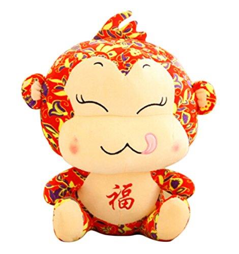 (Unternehmen Jahrestagung Geschenk Stofftier-Maskottchen Puppen, Glück Affe, 40cm)