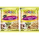 Pinkoo Oval Papad [ Golgappa/Pani Puri ] 200gms +200 GMS (Approx 170 Pcs)