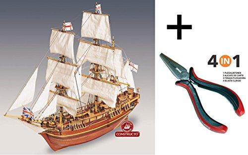 constructo-80817-maqueta-de-barco-en-madera-mercante-hms-bounty-escala-1-50-multiherramienta-4-en-1
