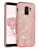 BENTOBEN Cover Samsung Galaxy A8 2018, Custodia Samsung Galaxy A8 2018 Donna Cellulare Bling Antiurto Morbida Protezione AntiGraffio Slim Antiscivolo Satinata Cover per Samsung Galaxy A8 2018 Rosa