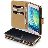 2015 Samsung Galaxy A5 Case, Terrapin Handy Leder Brieftasche Case Hülle mit Kartenfächer für Samsung Galaxy A5 (2015) Hülle Schwarz mit Hellbraun Interior (Nicht für Galaxy A5 2016)