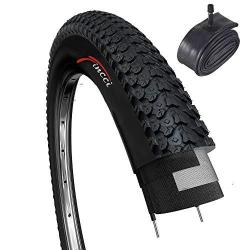 Fincci Set 26 x 2,125 Zoll 57-559 Reifen mit Autoventil Schläuche für MTB Mountain Hybrid Fahrrad