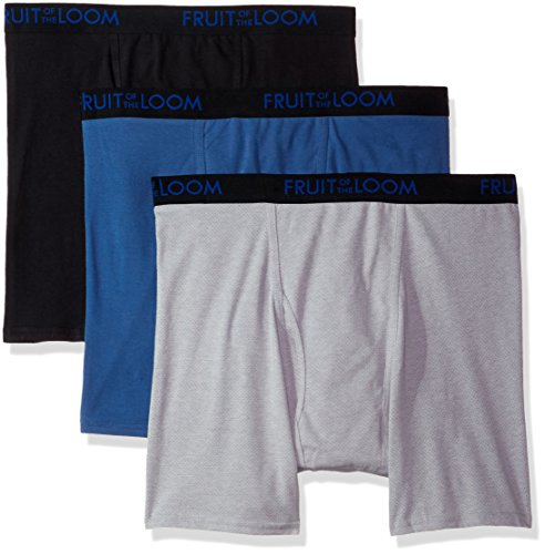 Fruit of the Loom Men's Boxer Briefs Pack of 3