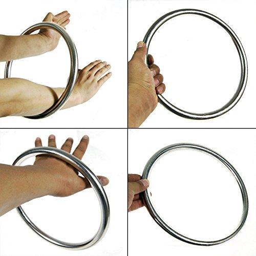 Rattan-ring (Bamboo Ring Hand Krafttraining Kampfkunst Kampfsport Zubehör (Kung Fu) Wing-Tsun Bambus Rattan Ring Rattanholz/Edelstahl Ring Trainingsgerät (Edelstahl))