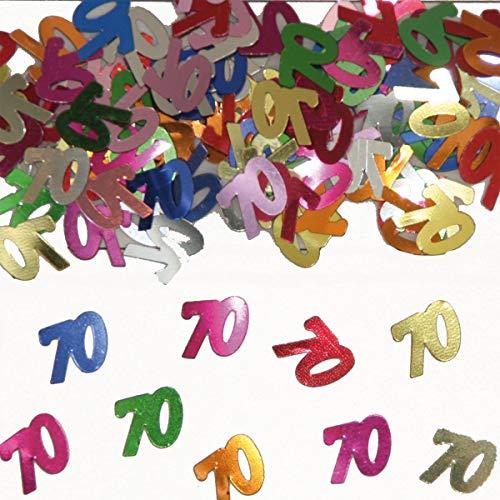 Folat 05319 - Tischkonfetti Zahl 70 - bunt - 1 x 14 gr. 70