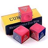 CUESOUL 3 Piezas por caja de Billar Chalk Snooker Cue Chalk (rosa)
