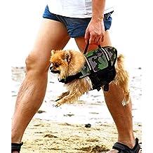 AOLVO - Chaleco Salvavidas para Perro, diseño Flotante, para natación, no tóxico,