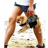AOLVO Dog Life Jacke, Hund Freeride Weste Gerät Lifesaver Camo für Schwimmen–ungiftig, verstellbar, atmungsaktiv, umweltfreundlich–Badeanzug Weste Pet Life Preserver Mit Reflektorstreifen für Hund