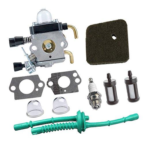 MagiDeal Vergaser Luftfilter Kraftstoffleitung Kit für Stihl FS55 String Trimmer Rasenmäher