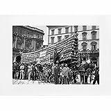 Archivio Foto Locchi Firenze - Stampa Fine Art su passepartout 40x30cm. - Immagine di un carro con fiaschi di vino a Firenze negli anni '30