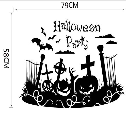 LONGTENGHEIHA Happy Halloween Home Haushalt Zimmer Wandaufkleber Dekor Abziehbild Abnehmbare Neue Halloween Wandaufkleber DIY Heißer ()