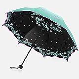 Big seller Regenschirme Sonnenschutz, Anti-UV-, Sonnenschirm, Falten, weiblich, Sonnenschirm (Farbe : Bronze)