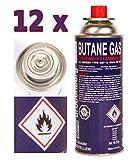 12 x Gaskartuschen 227g. MSF1a TüV Butan-gas-Kartusche für ( Campingkocher...