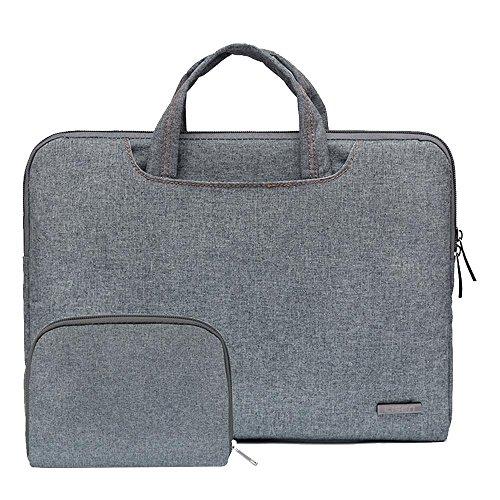 Preisvergleich Produktbild Pawaca 13,3 Zoll Dünner Laptop-Hülle-Kasten mit Handgriff, Nylon Stoßfest Schützender Aktenkoffer Beutel Laptop Tasche und Aufbewahrungsbeutel für Apple MacBook Pro/Lenove/IPad/Acer/Asus/Dell