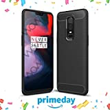 #2: WOW Rugged Armour Shock Proof Premium OnePlus 6 Back Case Cover (Carbon Black)