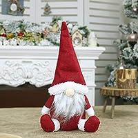 Tauser Regalo Senza Decorazioni delle Decorazioni di Natale della Decorazione della Finestra di Santa Doll Window Decorazioni Natalizie