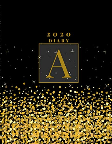 Personalised 2020 Diary Week To View Planner: A4 Diary Gold Letter A (The Best Of The Best) Organiser And Planner For The Year Ahead, School, Business, Office, Work, University (English Edition)