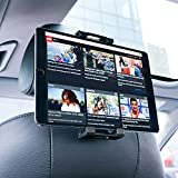 "Lamicall Soporte Tablet Coche, Soporte Tablet para Reposacabezas : Soporte Base Ajustable para 4.7""~13"" Tablets como iPad 2018 Pro 9.7, 10.5, Air Mini 2 3 4, iPhone Xs Xs Max XR X 8 7 Plus, E-Reader, Accesorios, Otras Tablets - Negro"
