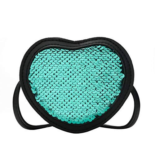 Biene Messenger (aiyvi Mädchen Kinderrucksäcke Rucksack Umhängetasche Daypacks Glitzer Nette Herzförmige Messenger Bag Crossbody Bag Freizeit Reise süße)