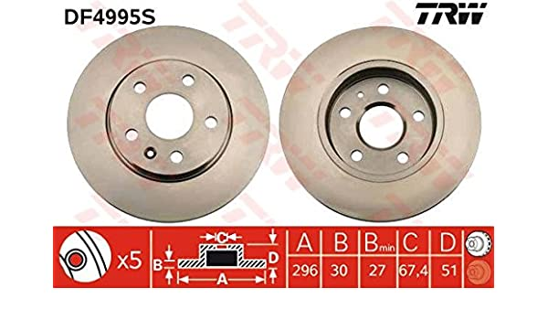 NEW MINTEX FRONT BRAKE DISCS SET MDC1905 FREE NEXT DAY DELIVERY
