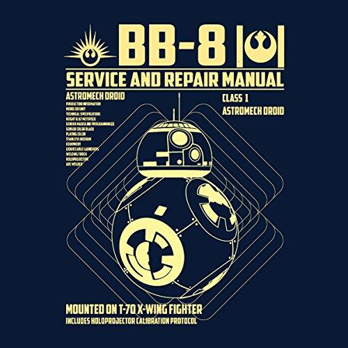 BB8 Astromech Droid Manual Star Wars Women's Vest Navy Blue