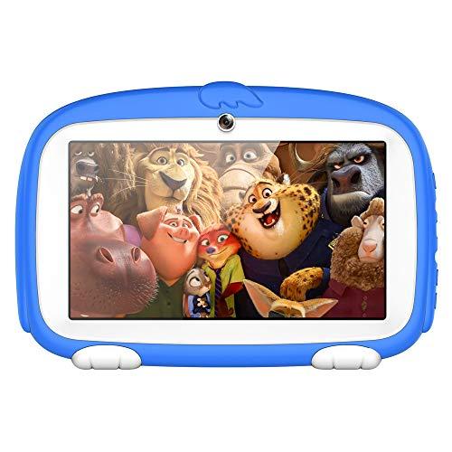 SO-buts Android 6.0 Touch Kids Tablet,7-Zoll Quad-Core Tablet,Maximaler erweiterter Speicher 32 GB,HD-Display Dual-Kamera WiFi Bluetooth Geeignet für Kinder, (Blau)