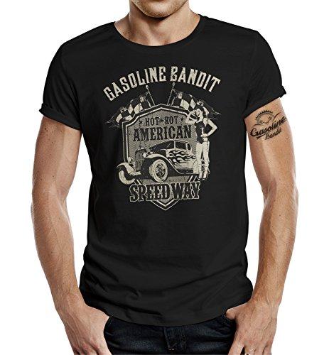 GASOLINE BANDIT Original Biker T-Shirt: American Speedway-L - American Heavyweight T-shirt