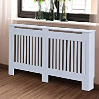 BARGAINSGALORE TRADITIONAL RADIATOR COVER CABINET GRILL FURNITURE MDF SLATTED WOOD DECOR MODERN (78CM RADIATOR COVER)