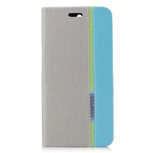 EKINHUI Case Cover Mischfarben Premium Synthetik PU Ledertasche mit Kartenfächern und Kickstand für Huawei NOVA 2 Plus ( Color : Black ) Gray