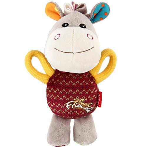 GiGwi 6284 Hundespielzeug Plush Friendz bunter Esel aus Plüsch, mit Quietscher