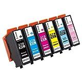 GPC Image 378XL Kompatibel Druckerpatronen Ersatz für Epson 378XL-T3781XL T3782XL T3783XL T3784XL T3785XL T3786XL 6 Pack für Epson Expression Photo XP-8500, XP-15000, XP-8505 (1B/1C/1M/1Y/1LC/1LM)