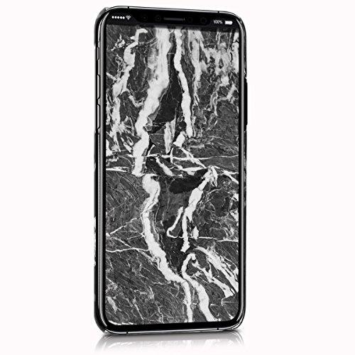 kwmobile Hülle für Apple iPhone X - Backcover Case Handy Schutzhülle Kunststoff - Hardcase Cover Marmor Design Schwarz Weiß Marmor Schwarz Weiß