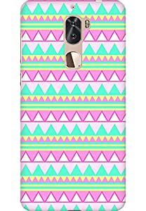 AMEZ Coolpad Cool1 High Quality Printed Back Case (Pink Green Aztec)