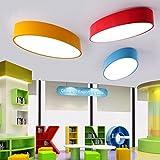 GQLBKunst ovale Deckenleuchte Farbe Kinderschlafzimmer LED kreativ Kindergarten Licht 500 * 240 * 100 mm, Grün