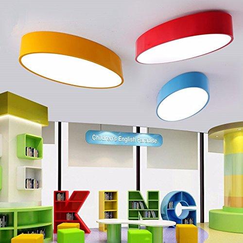 GQLBKunst oval-geformte Decke Licht Farbe Kinderzimmer LED kreativ Kindergarten Leuchten 500 * 240 * 100 mm, blau Fan-wand-kunst