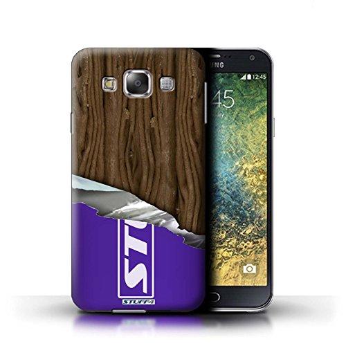 Stuff4® Hülle/Hülle für Samsung Galaxy E7/E700 / Eingewickelt Flake Muster/Schokolade Kollektion