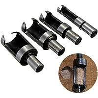 4pezzi in acciaio al carbonio legno Plug Cutter Drill Bit