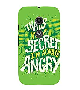 QUOTE DEPICTING THE ATTITUDE 3D Hard Polycarbonate Designer Back Case Cover for Motorola Moto E2 :: Motorola Moto E (2nd Gen)