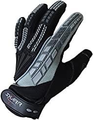 Paintball SKARR guantes Paintball pronúcleo blindados - dedo completo Airsoft Woodsball negra/gris, color  - negro y gris, tamaño large
